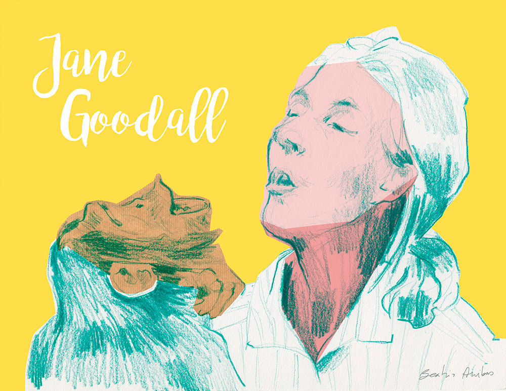 International Day of Women and Girls in Science. Jane Goodall