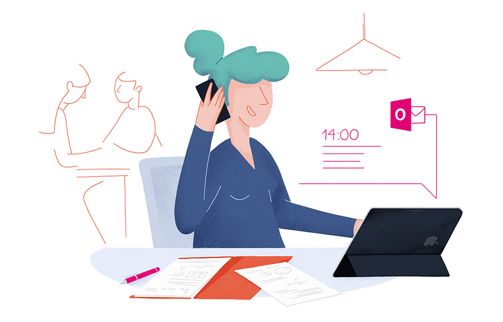 Telekom illustrated newsletter