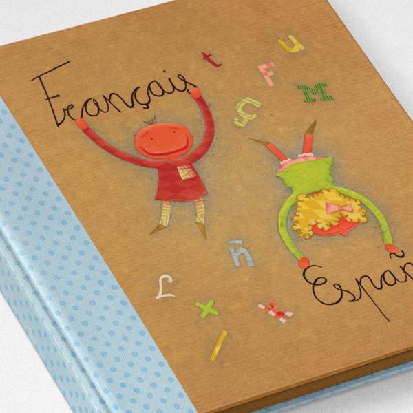 Illustrated Alphabet French-Spanish
